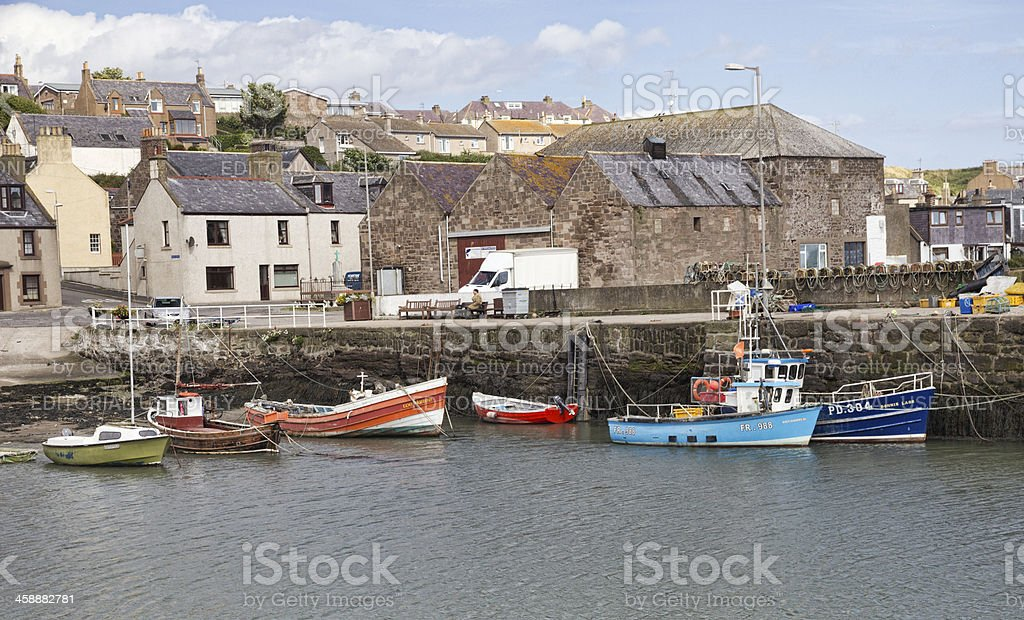 View of Town from Gourdon Harbour royalty-free stock photo