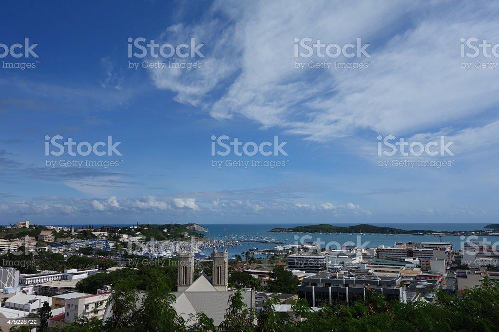 Vista de la ciudad de Nueva Caledonia Noumea- - foto de stock