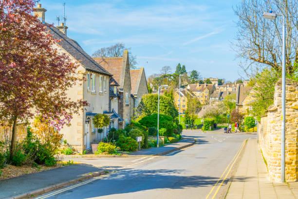 在英國斯坦福德的傳統房屋的看法 - 林肯郡 個照片及圖片檔