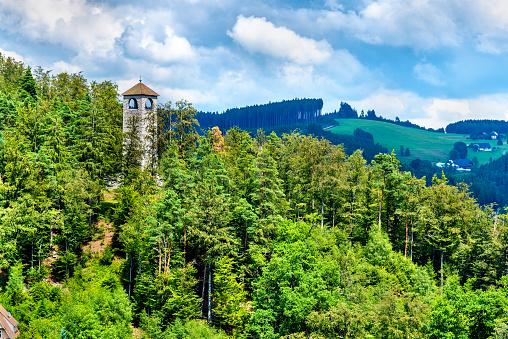 View of Triberg im Schwarzwald town - Germany