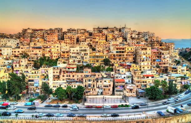 vue de tripoli, la deuxième plus grande ville du liban - liban photos et images de collection