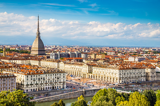 View of Turin centre with Mole Antonelliana-Italy