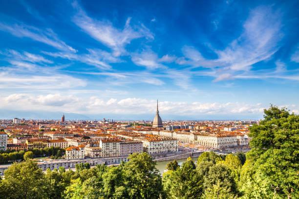 View of Turin city centre-Turin,Italy stock photo