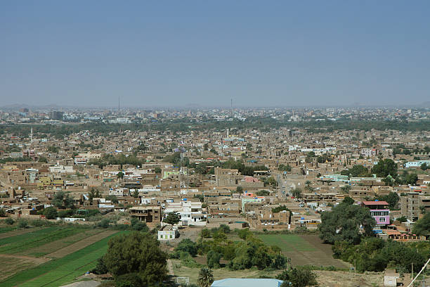 View of Tuti island, Khartoum Panoramic view of Tuti island in Khartoum, Sudan omdurman stock pictures, royalty-free photos & images