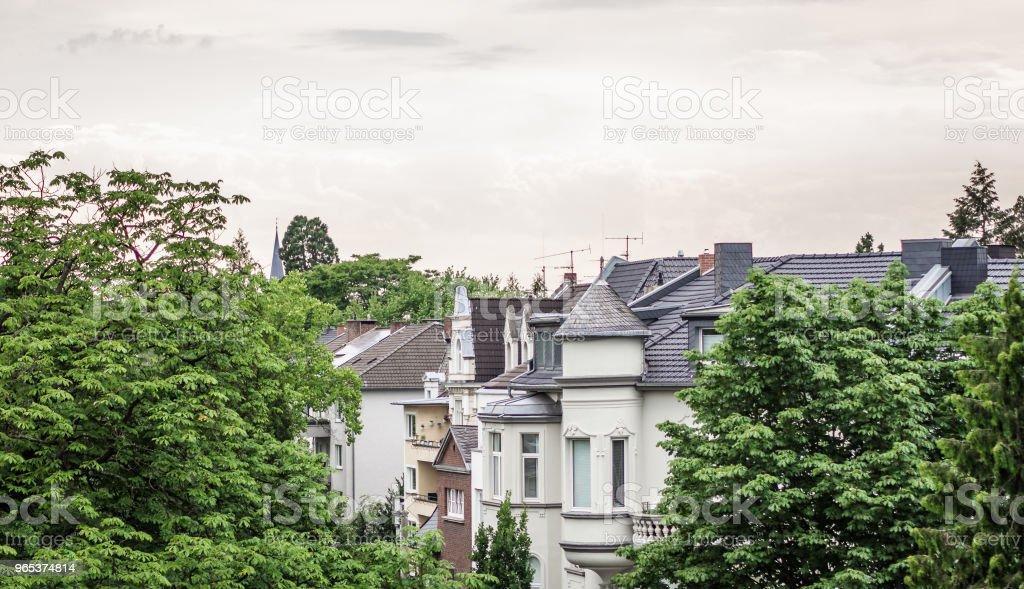 Vue du logement allemand typique - Photo de Allemagne libre de droits
