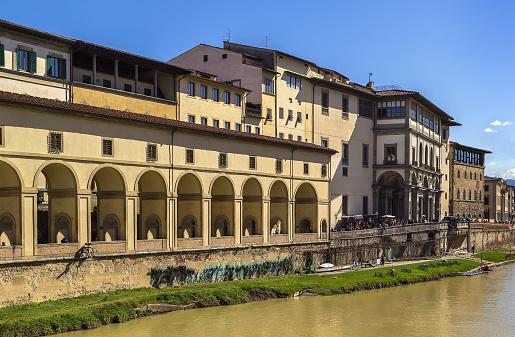view of Uffizi Gallery, Florence