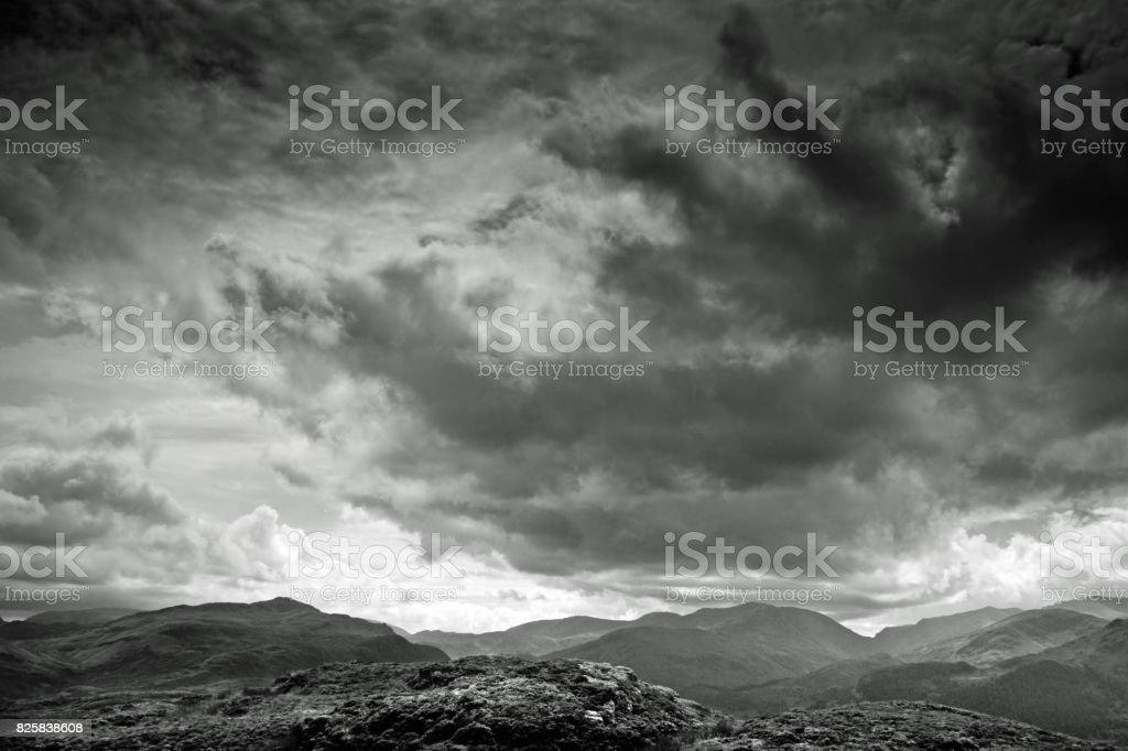 View of Ullswater in Cumbria. stock photo