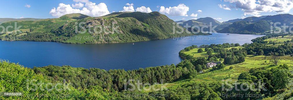 View of Ullswater Lake, Lake District, UK stock photo