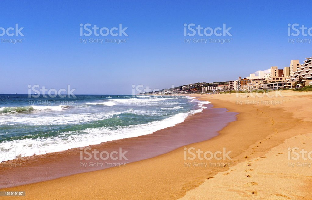 View of Umdloti Beacfront in Durban South Africa stock photo