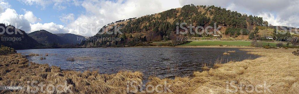 View of Upper Lake, Glendalough. Ireland royalty-free stock photo
