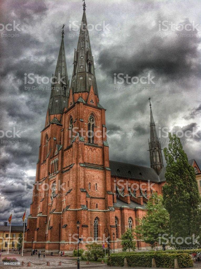 View of  Uppsala stock photo