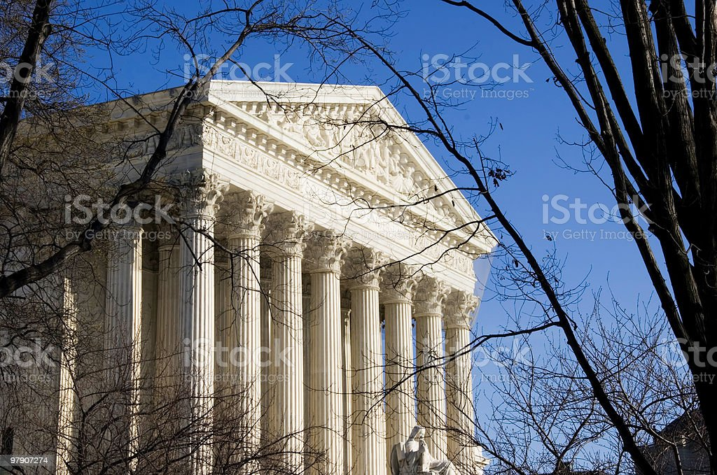View of U.S. Supreme Court royalty-free stock photo