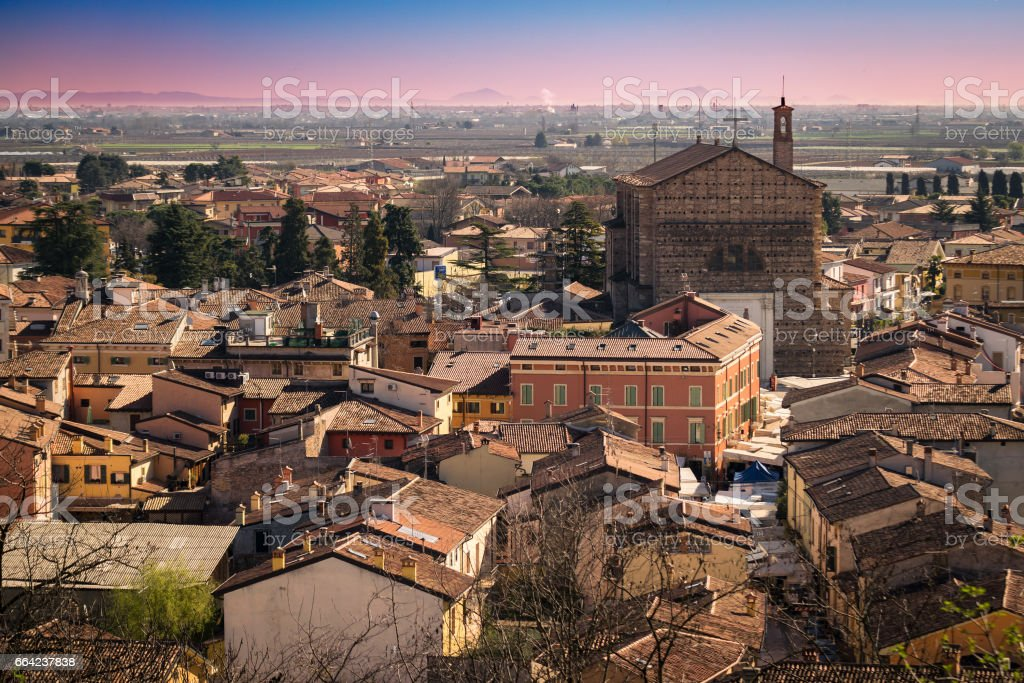View of Valeggio, Italy. stock photo