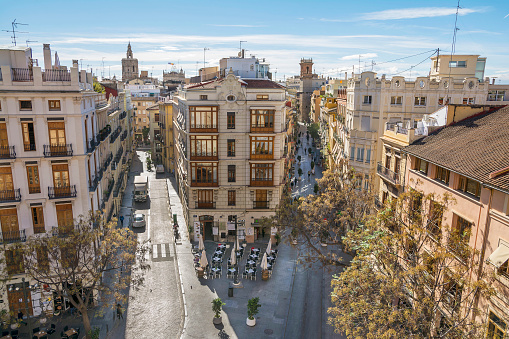 View of Valencia, Spain ,from Serrano Towers