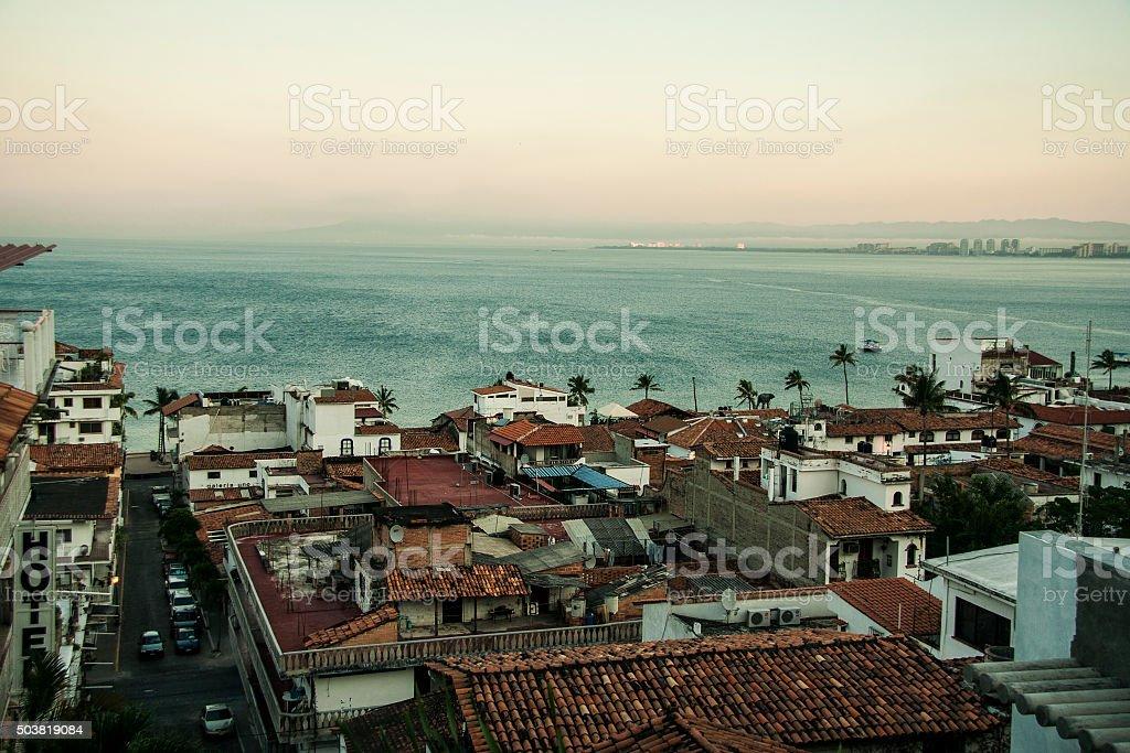View of Vallarta Beach, Mexico stock photo