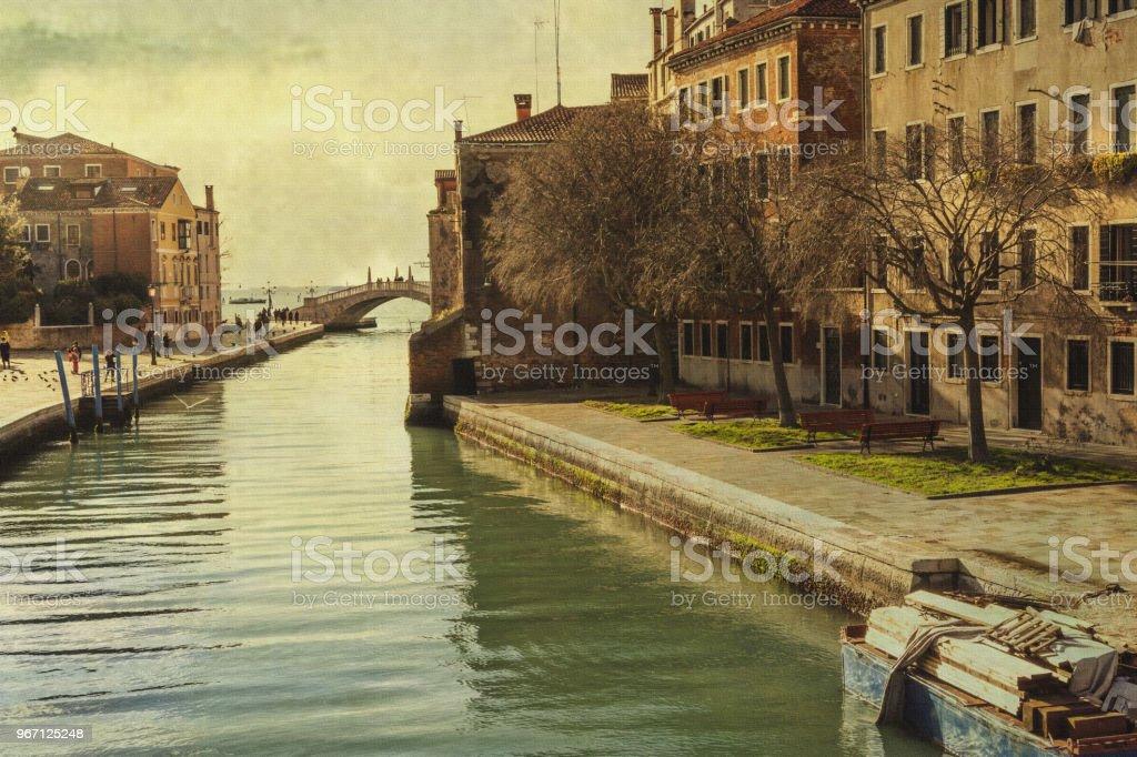 Vista de Veneza: Arsenale - foto de acervo