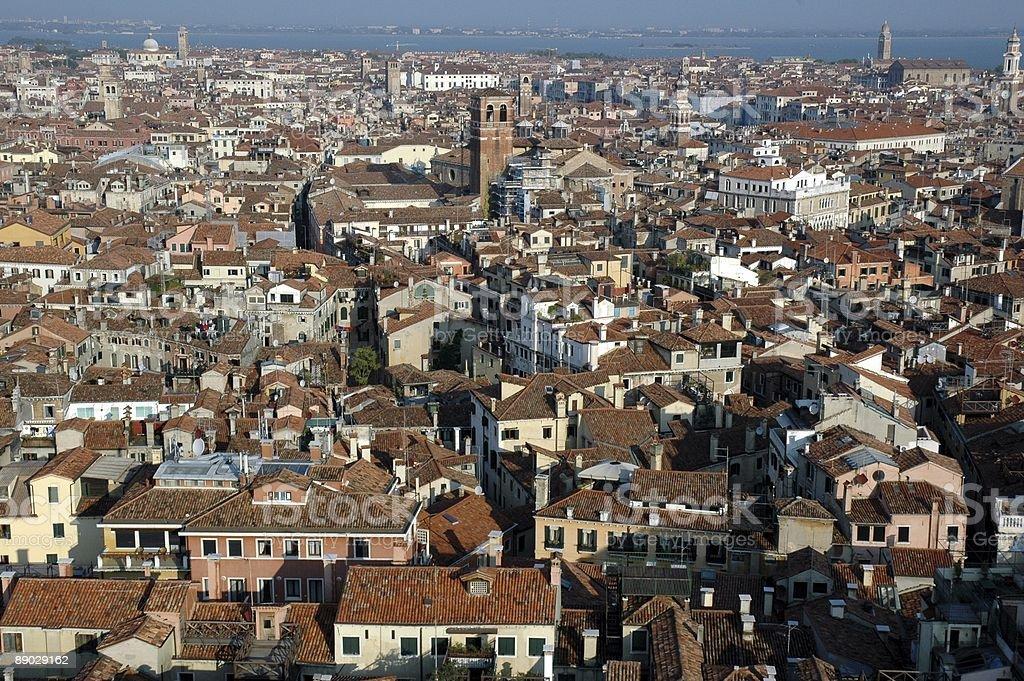 Vue sur Venise depuis le Campanile de Saint-Marc. photo libre de droits