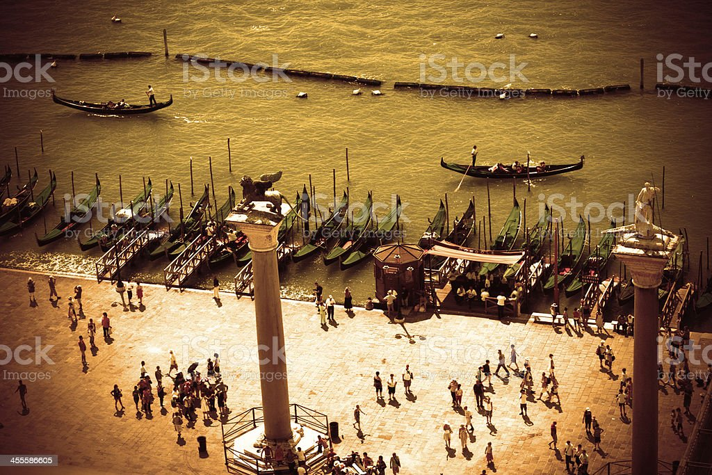 View of Venice from the campanile San Marco royalty-free stock photo