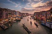 A beutiful sunset at Venice, Italy.