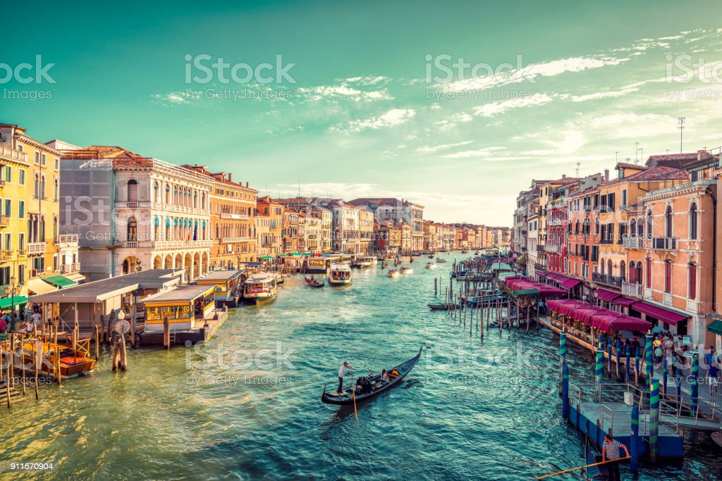 View of Venice's Grand Canal stock photo