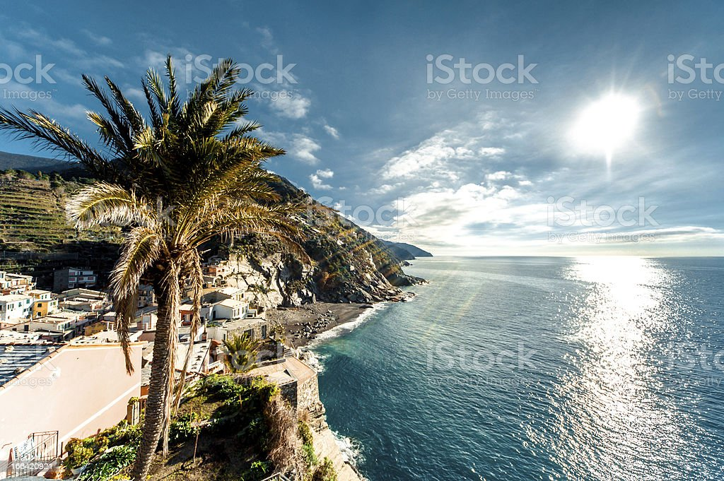 View of Vernazza, Italy royalty-free stock photo