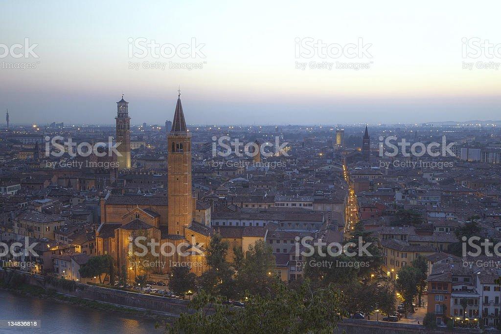 View of Verona stock photo