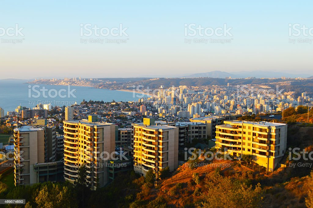 View of Viña del Mar in central Chile royalty-free stock photo