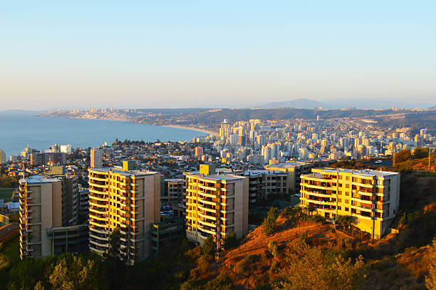 View of Viña del Mar in central Chile stock photo
