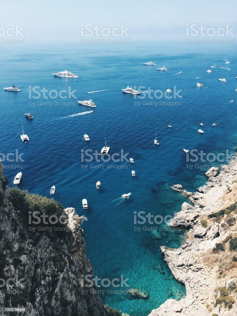 View of Via Krupp in Capri Island stock photo