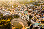 istock View of Vienna in the sunrise, Austria 1176796753