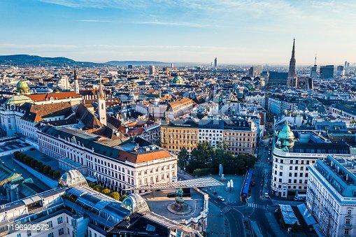 istock View of Vienna in the sunrise, Austria 1196925572