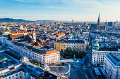 istock View of Vienna in the sunrise, Austria 1196925572