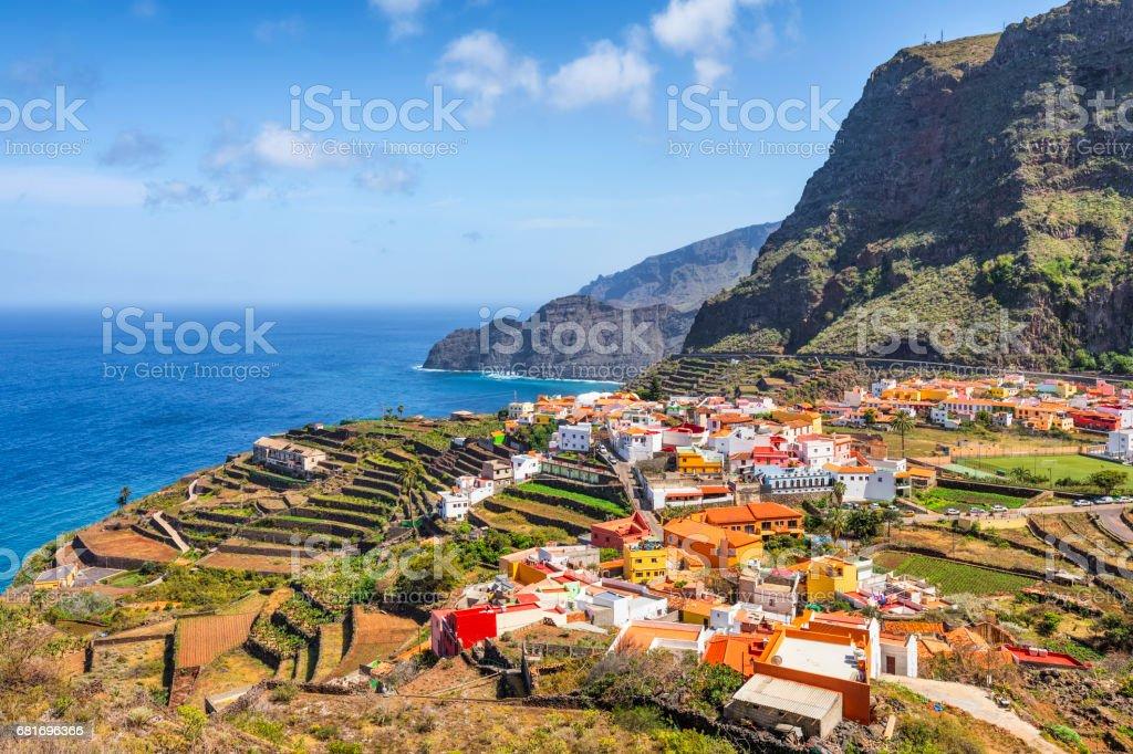 Blick auf das Dorf Agulo auf Kanarischen Inseln La Gomera in der Provinz Santa Cruz De Tenerife - Spanien – Foto