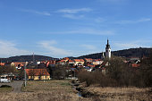 View of village in spring, Czech republic