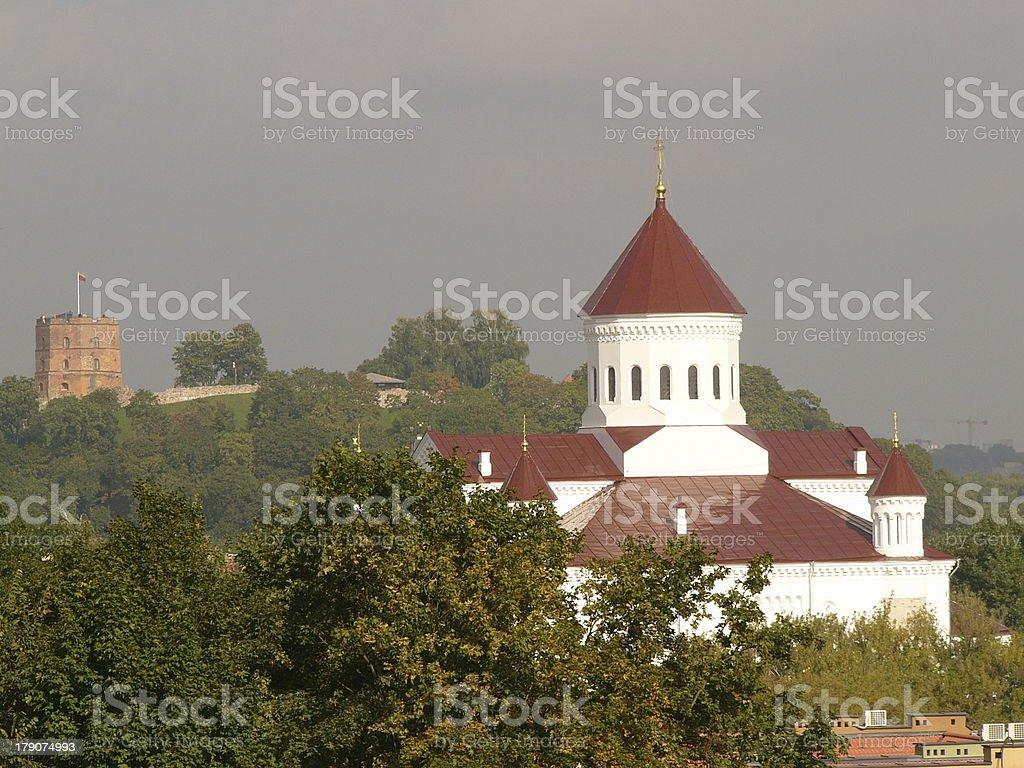 View of Vilnius stock photo