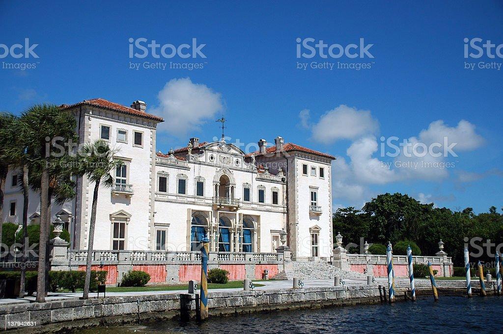 View of Vizcaya Mansion in Miami stock photo