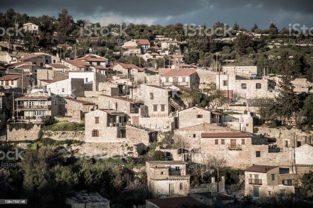 View of Vouni village. Limassol District. Cyprus stock photo