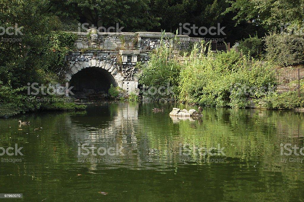 View of Walpole Park, Ealing royalty-free stock photo