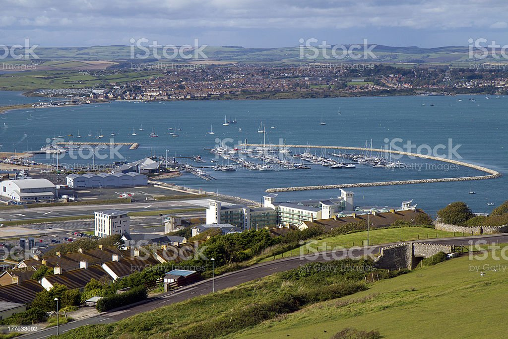 View of Wemouth in Dorset stock photo