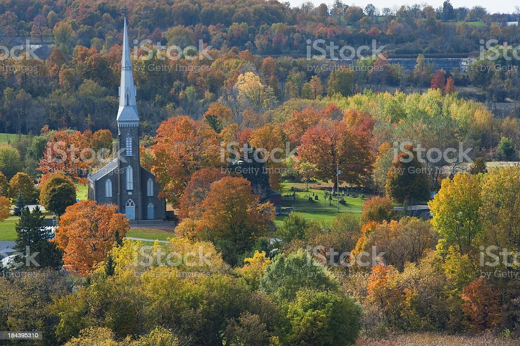 View of Westport from Folley Mountain stock photo