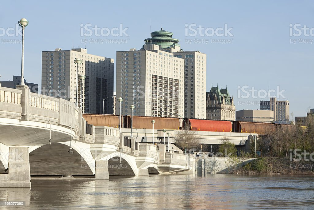 A view of Winnipeg during the daytime royalty-free stock photo