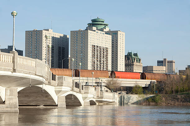 A view of Winnipeg during the daytime stock photo
