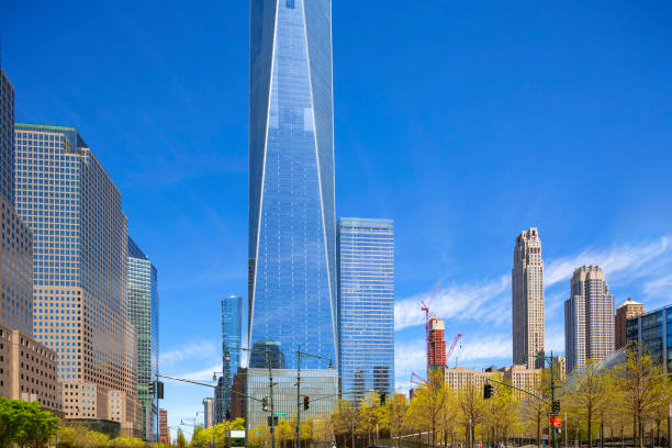Blick auf den World Trade Center-Komplex in Lower Manhattan. – Foto