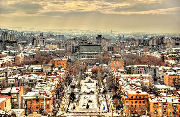 View of Yerevan with View of Yerevan  yerevan stock pictures, royalty-free photos & images