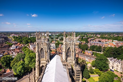 Situated in the town of York in England, this amazing building has been around for over 1000 years. Shot from on top of the tower.