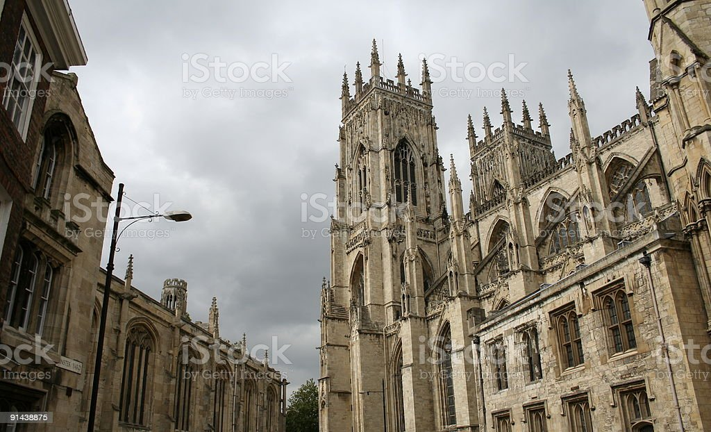 View of York Minster, Norman Cathedral, Yorkshire, England royalty-free stock photo