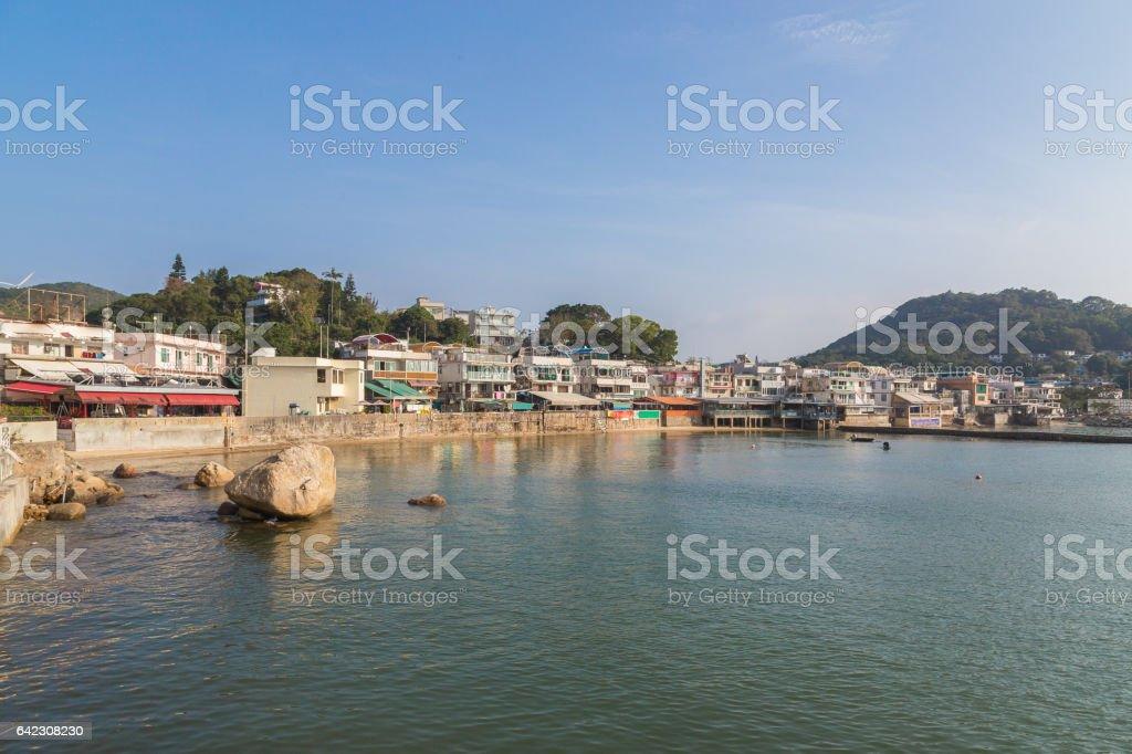 View of Yung Shue Wan Lamma Island stock photo