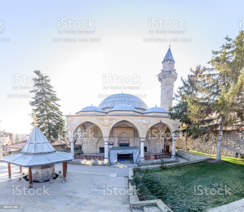 View of  Yunus Pasha Mosque in Tarakli zbiór zdjęć royalty-free