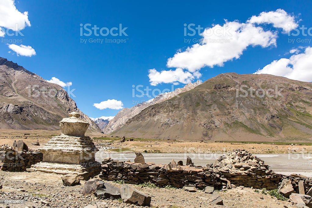 View of Zanskar Valley stock photo