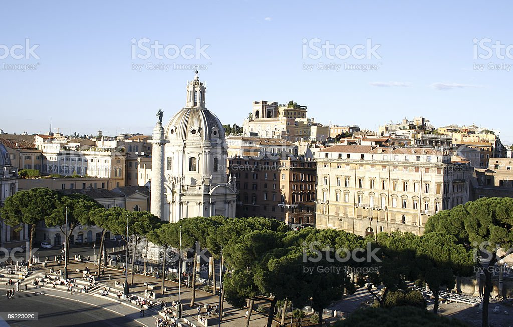 View old city of Rome royalty-free stock photo